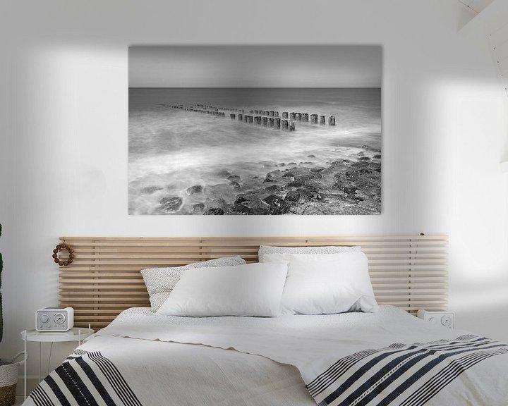 Sfeerimpressie: Noordzeekust in zwart-wit van Teuni's Dreams of Reality
