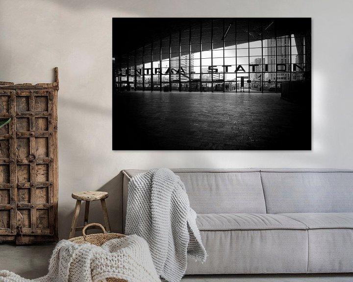Sfeerimpressie: Centraal Station Rotterdam van Rob van der Teen