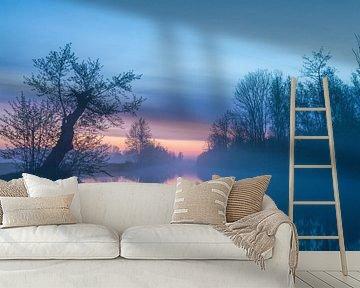 Pastelkleuren voor zonsopkomst in De Onlanden van R Smallenbroek