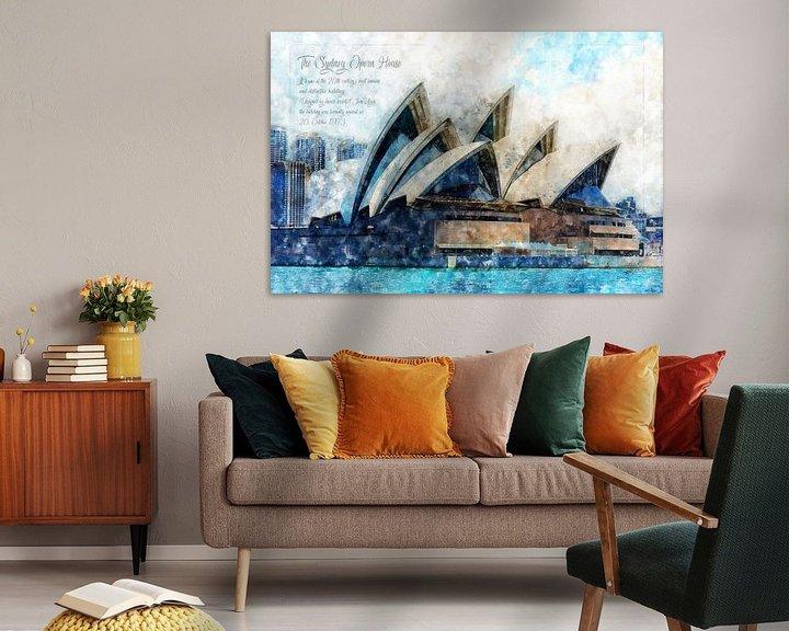 Beispiel: Oper Sydney, Aquarell, Australien von Theodor Decker