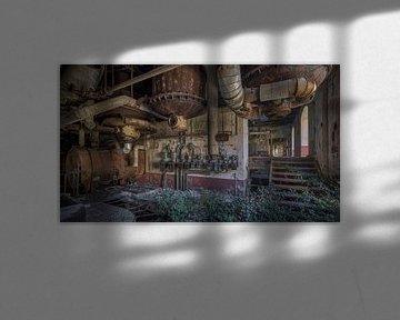 Fabriek is verwaarloosd en achtergelaten van Atelier Liesjes