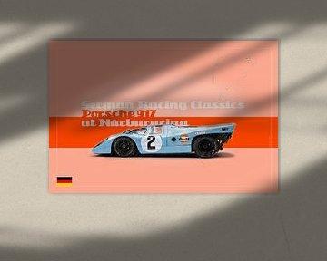 Porsche 917 aan de Nürburgring, Duitsland van Theodor Decker