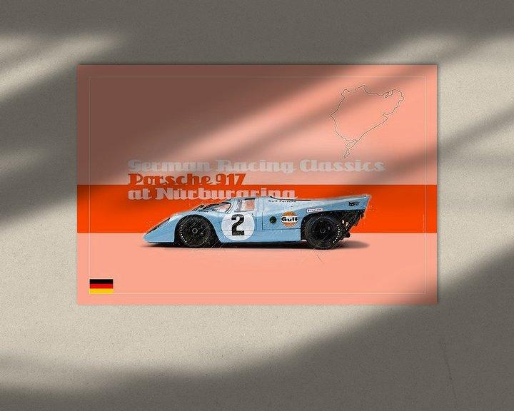 Beispiel: Porsche 917 auf dem Nürburgring, Deutschland von Theodor Decker