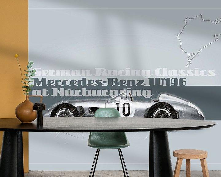 Beispiel fototapete: Mercedes Benz W196 auf dem Nürburgring, Deutschland von Theodor Decker