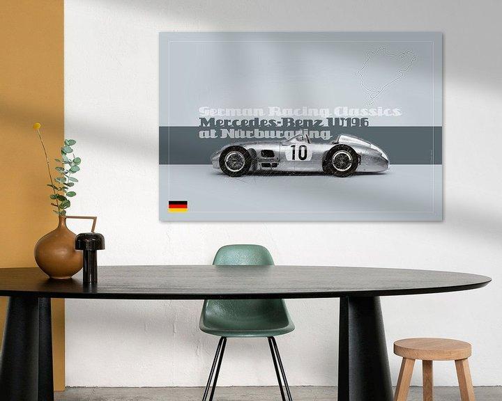 Beispiel: Mercedes Benz W196 auf dem Nürburgring, Deutschland von Theodor Decker