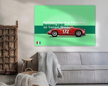 Ferrari 250P op de Targa Florio, Italië van Theodor Decker