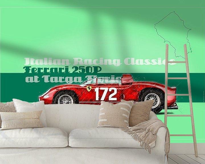 Beispiel fototapete: Ferrari 250P auf der Targa Florio, Italien von Theodor Decker