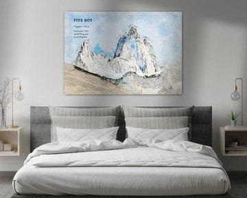 Fitz Roy, Patagonië van Theodor Decker