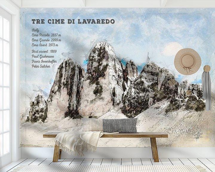 Beispiel fototapete: Drei Zinnen, Süd Tirol, Italien von Theodor Decker