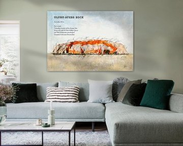 Uluru, Ayers Rock, Australië van Theodor Decker