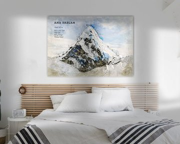 Ama Dablam, Nepal van Theodor Decker