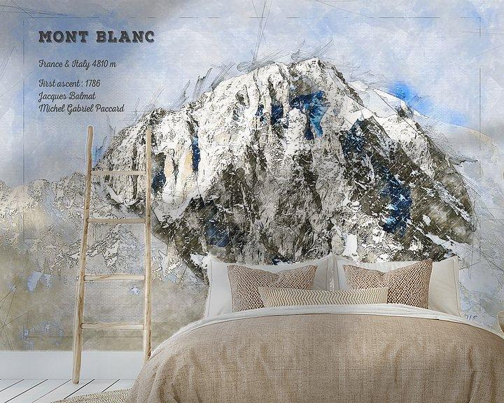 Beispiel fototapete: Mont Blanc, Frankreich / Italien von Theodor Decker