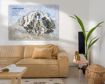 Mont Blanc, Frankrijk / Italië van Theodor Decker