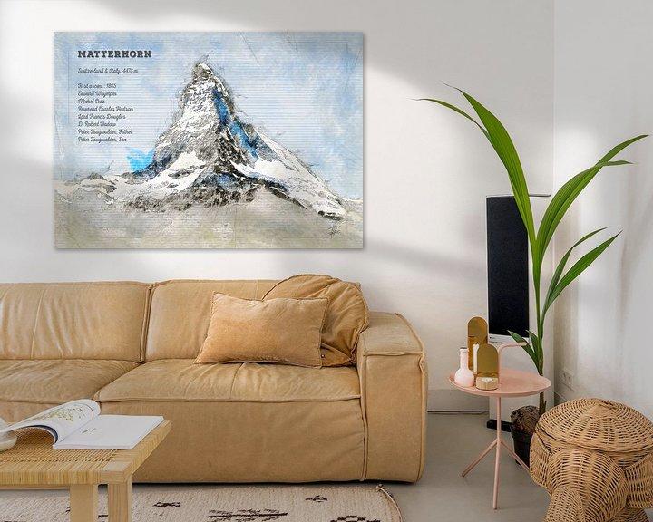 Beispiel: Matterhorn, Schweiz von Theodor Decker