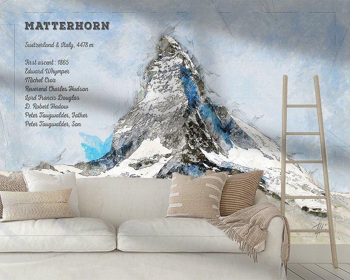 Beispiel fototapete: Matterhorn, Schweiz von Theodor Decker