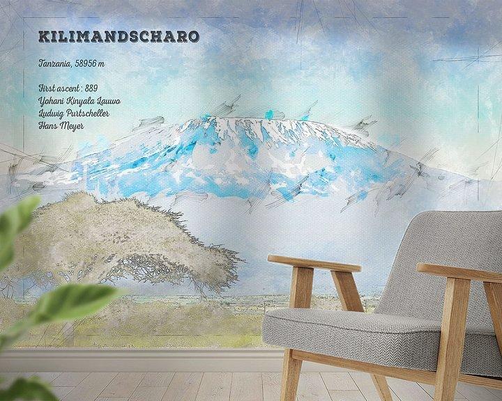 Beispiel fototapete: Kilimandscharo, Tansania von Theodor Decker
