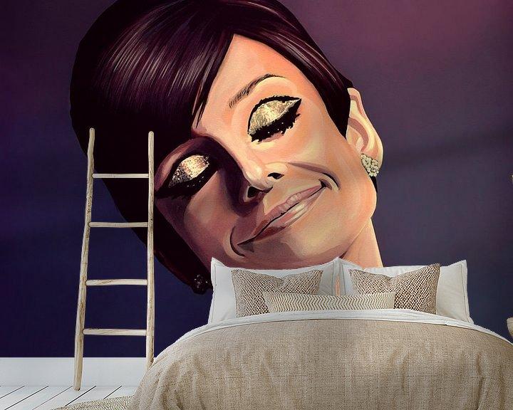 Beispiel fototapete: Audrey Hepburn painting von Paul Meijering