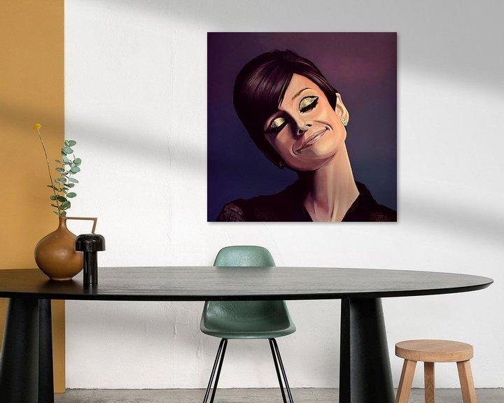 Beispiel: Audrey Hepburn painting von Paul Meijering