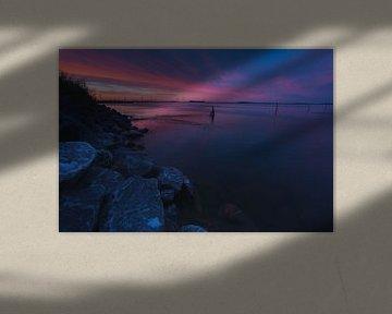Zeewolde zonsondergang van Robin van Maanen