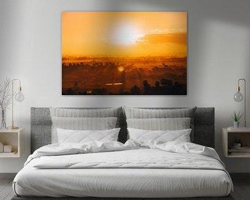 Sunrise in Cambodia van Jaco Pattikawa