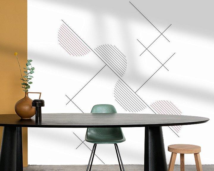 Beispiel fototapete: Abstrakt, Geometrische Zusammensetzung von MDRN HOME