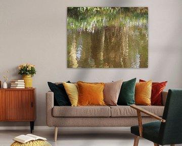 bomen in het water van Marjanne van der Linden