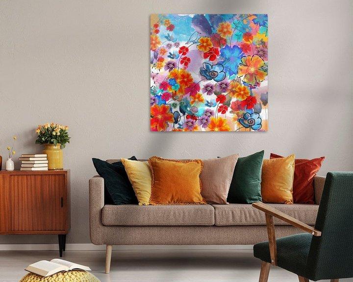 Beispiel: Blumen-Collage von Nicole Habets