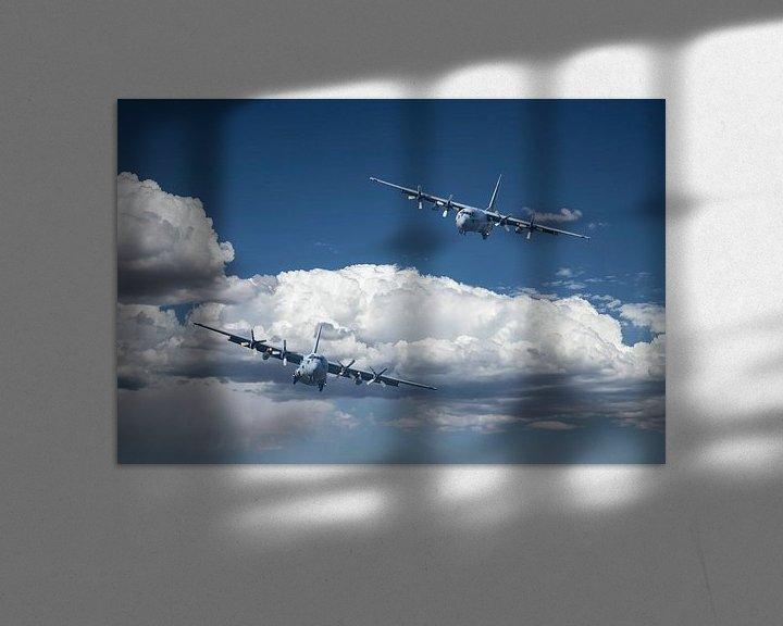 Sfeerimpressie: Lockheed C-130 Hercules, low approach van Gert Hilbink