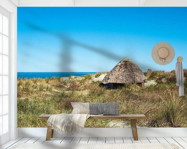 Beispiel fototapete: Strandhütte an der Ostseeküste in Wustrow auf dem Fischland-Darß von Rico Ködder