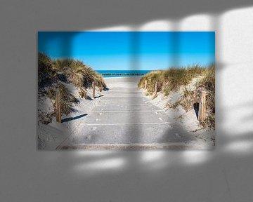 Strandzugang an der Ostseeküste in Wustrow auf dem Fischland-Darß von Rico Ködder