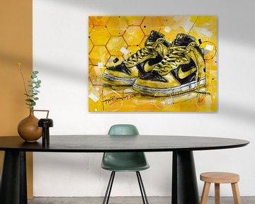 Wu-Tang x Nike Dunk High LE-Gemälde von Jos Hoppenbrouwers
