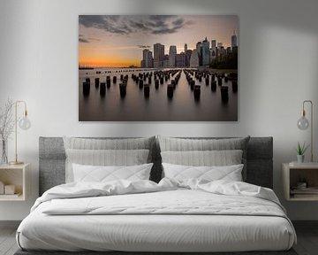 New York City Skyline van Maikel Claassen Fotografie