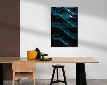De blauwe Waterval Trap van Maikel Claassen Fotografie