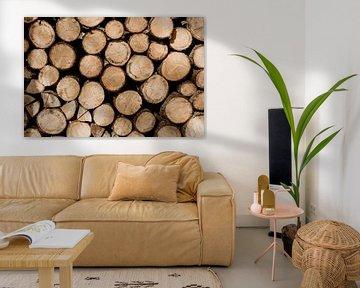 Stapel hout van Myrthe Vlasveld