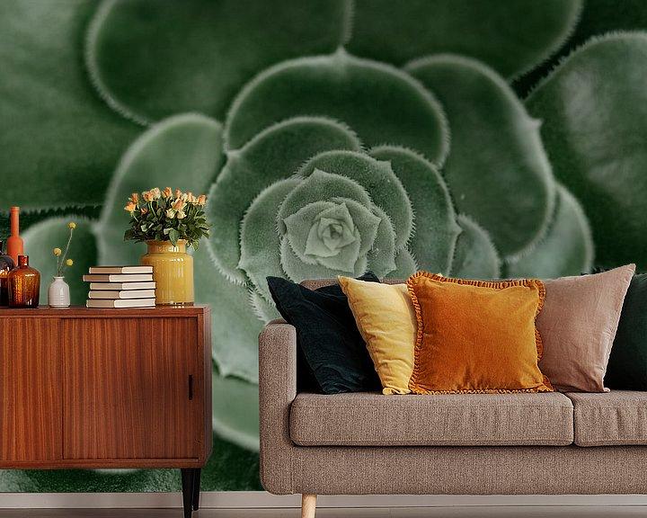 Sfeerimpressie behang: Groen van Myrthe Vlasveld