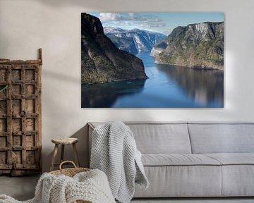 Vue en Norvège sur les fjords. sur Martina van Raad