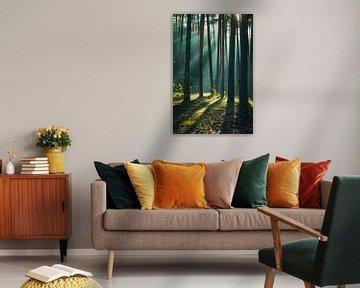 Bos in de Harz van Martin Wasilewski