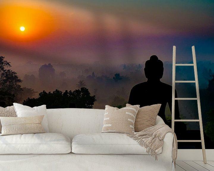 Sfeerimpressie behang: Buddha Sunrise van Geert Schuite