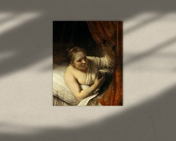Eine Frau im Bett, Rembrandt van Rijn