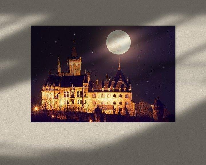 Beispiel: Schloss Wernigerode und Vollmond von Oliver Henze