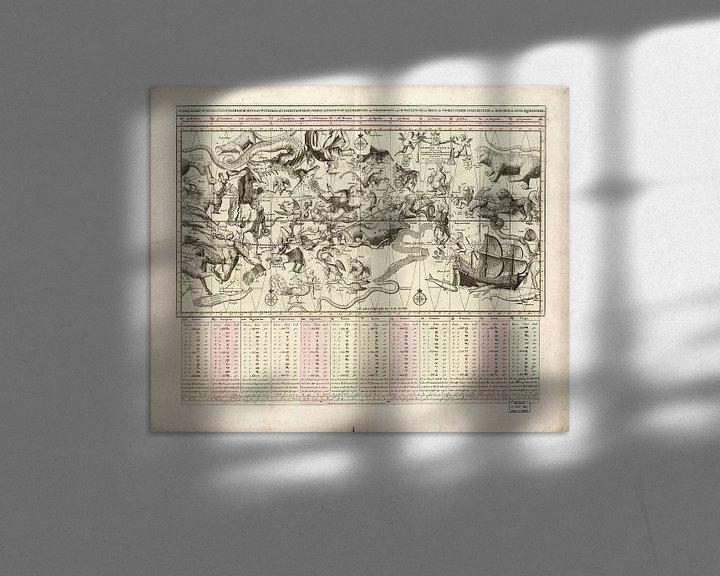 Sfeerimpressie: Sterrenkaart van het Hemelse Plein uit 1792 van Atelier Liesjes
