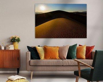 Dune rétro-éclairée sur Denis Feiner