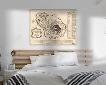 Karte des Heiligen Eustatius 1775