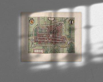 Delft, Stadtplan Joan Blaeu 1652