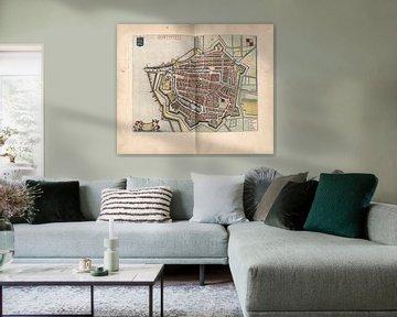 Harlingen, Stadtplan Joan Blaeu 1652
