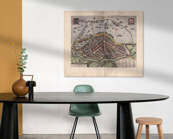 Beispiel: Hoorn, Stadtplan Joan Blaeu 1652 von Atelier Liesjes