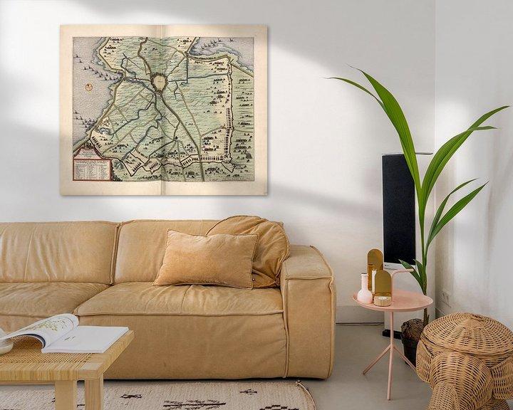 Beispiel: Stechpalme, Stadtplan Joan Blaeu 1652 von Atelier Liesjes