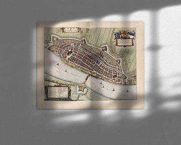 Kampen, Stadtplan Joan Blaeu 1652 von Atelier Liesjes