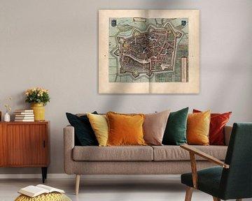 Leeuwarden, Stadtplan Joan Blaeu 1652 von Atelier Liesjes
