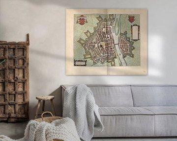 Maastricht Limburg, Stadsplattegrond Joan Blaeu 1652 van Atelier Liesjes